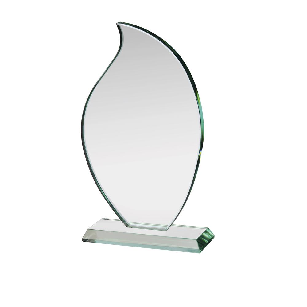 10 Inch Flickering Flame Crystal Award