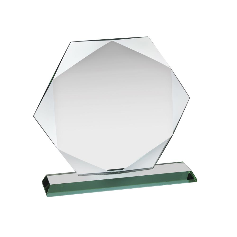 6 Inch Hexagon Crystal Award