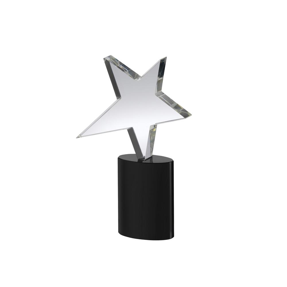 8 Inch Star On Cylindrical Base Crystal Award
