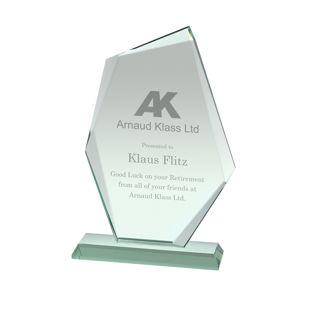 8 Inch Extra Thick Crystal Award