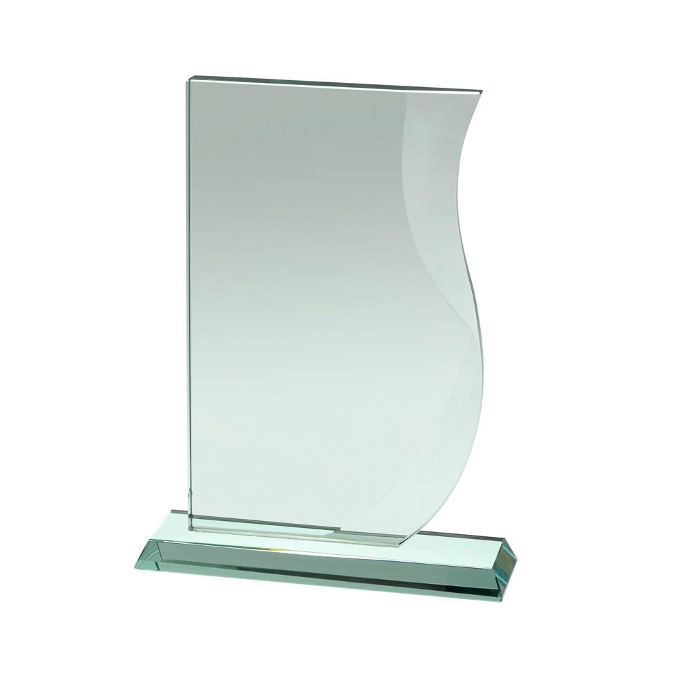 8 Inch Curved Edge Crystal Award