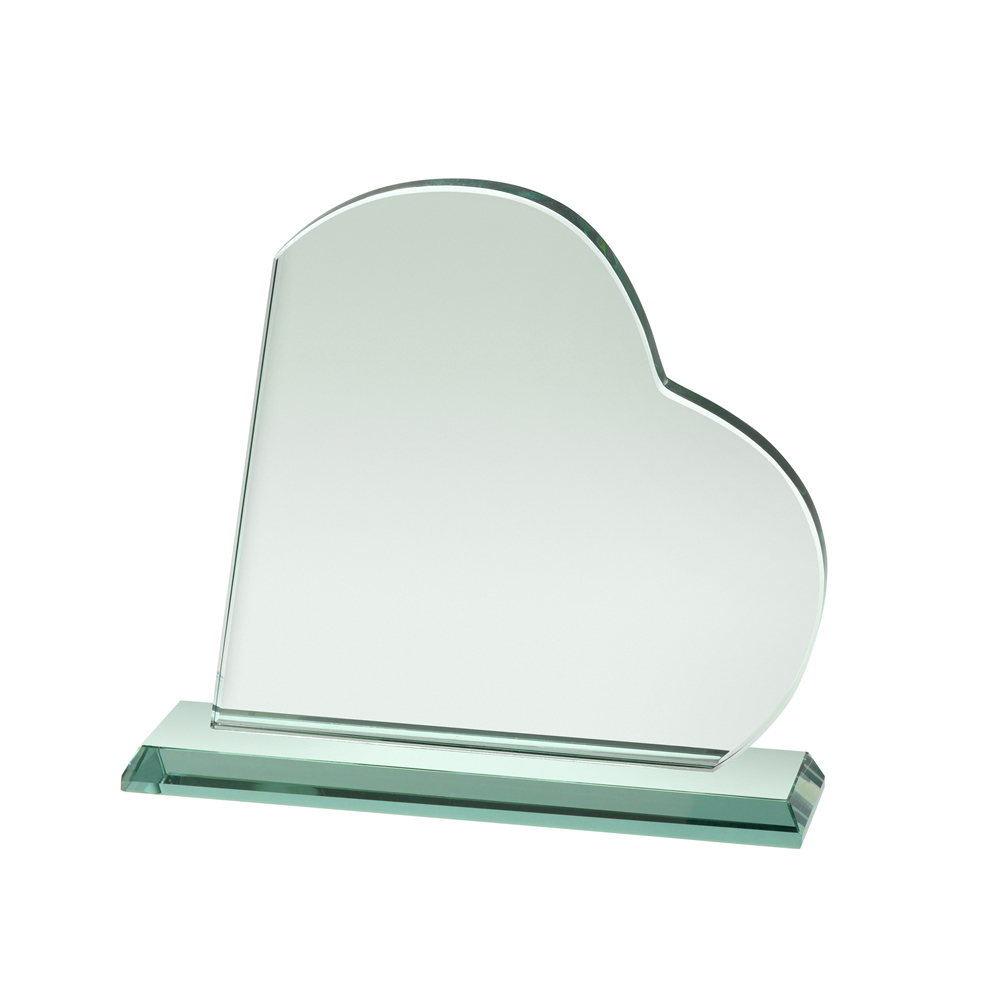 6 Inch Heart Crystal Award