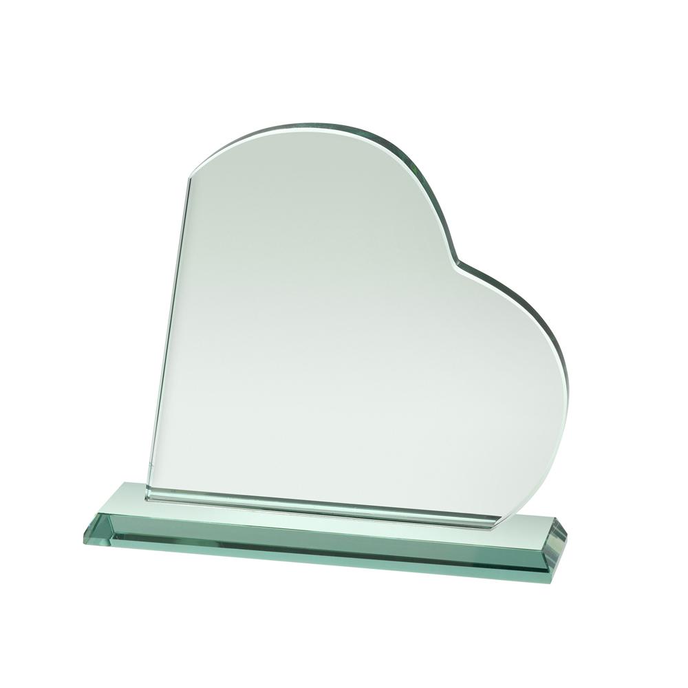 8 Inch Heart Crystal Award