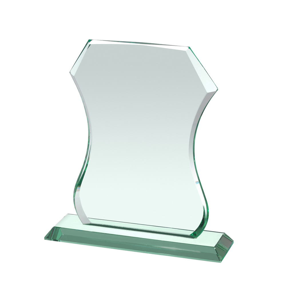 8 Inch Georgian Curve Crystal Award