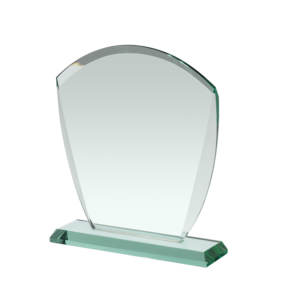 9 Inch Curved Top Crystal Award