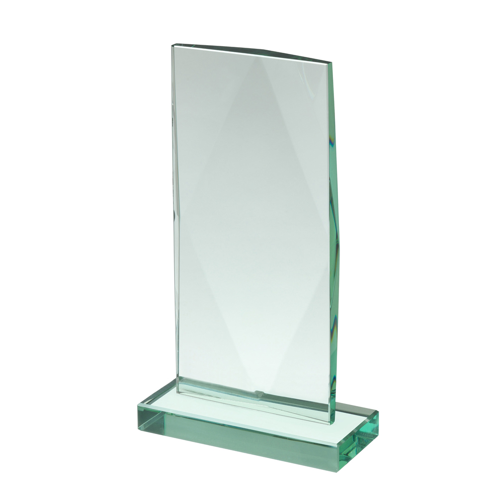 9 Inch Tall Rectangle Crystal Award