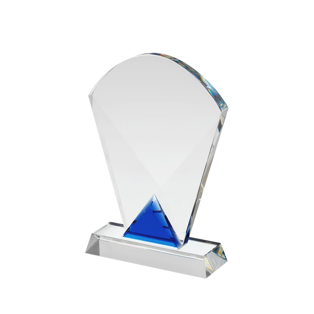 8 Inch Curved Top Crystal Award