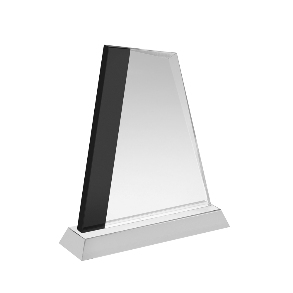 7 Inch Black Stripe Crystal Award
