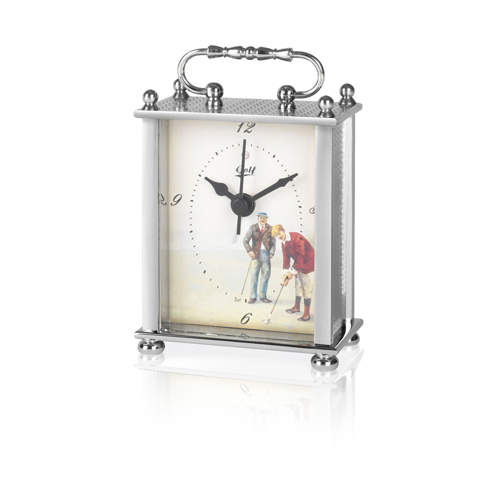 4 Inch Carriage Golf Jaunlet Clock