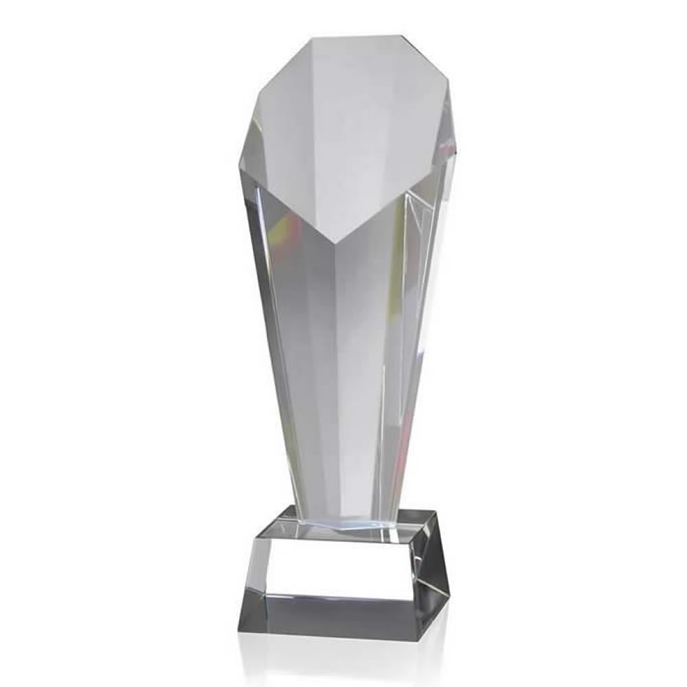 10 Inch Tall Optical Crystal Award