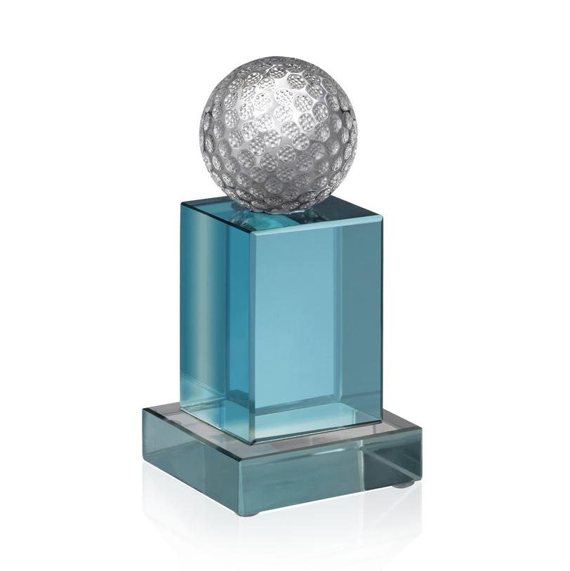 6 Inch Golf Ball On Cube Golf Oreland Award