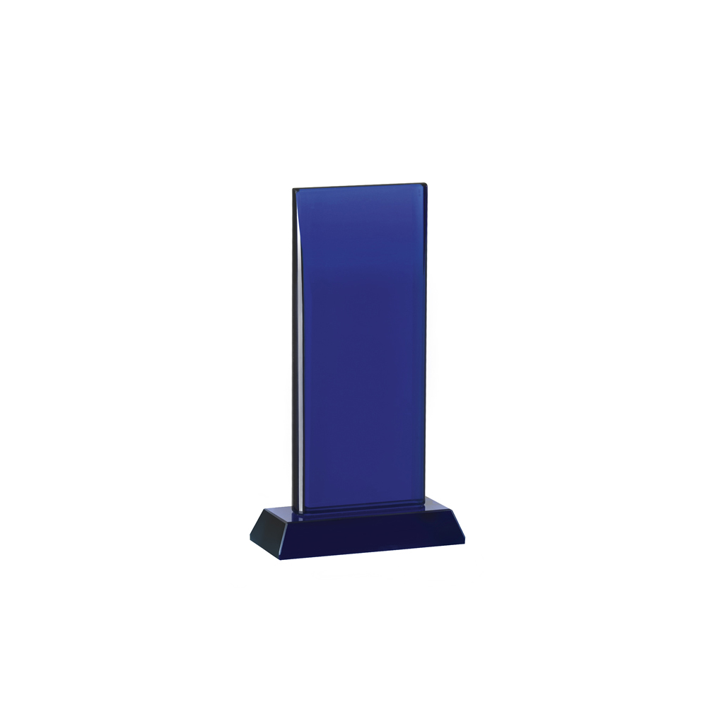 8 Inch Tall Blue Curved Top Oreland Award