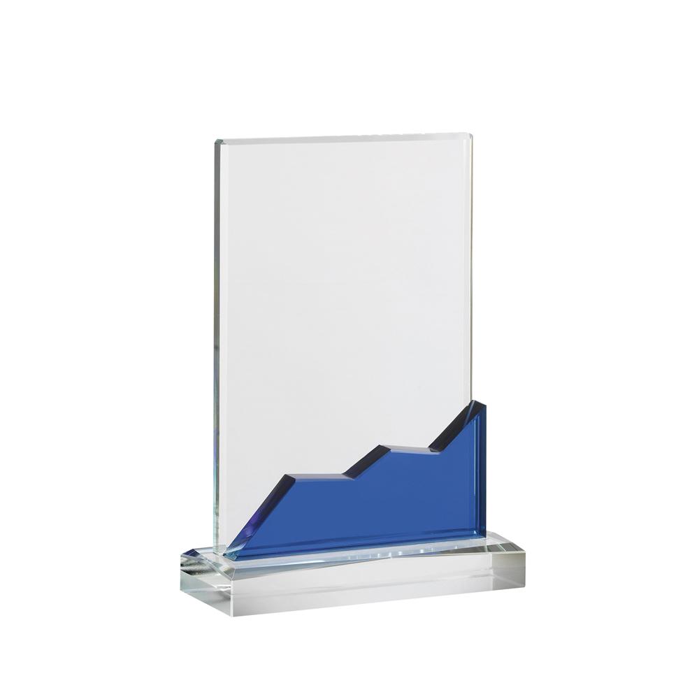 8 Inch Clear With Blue Portrait Oreland Award