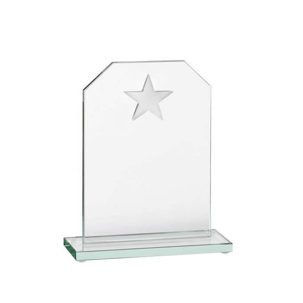 6 Inch Jade Glass Star Award