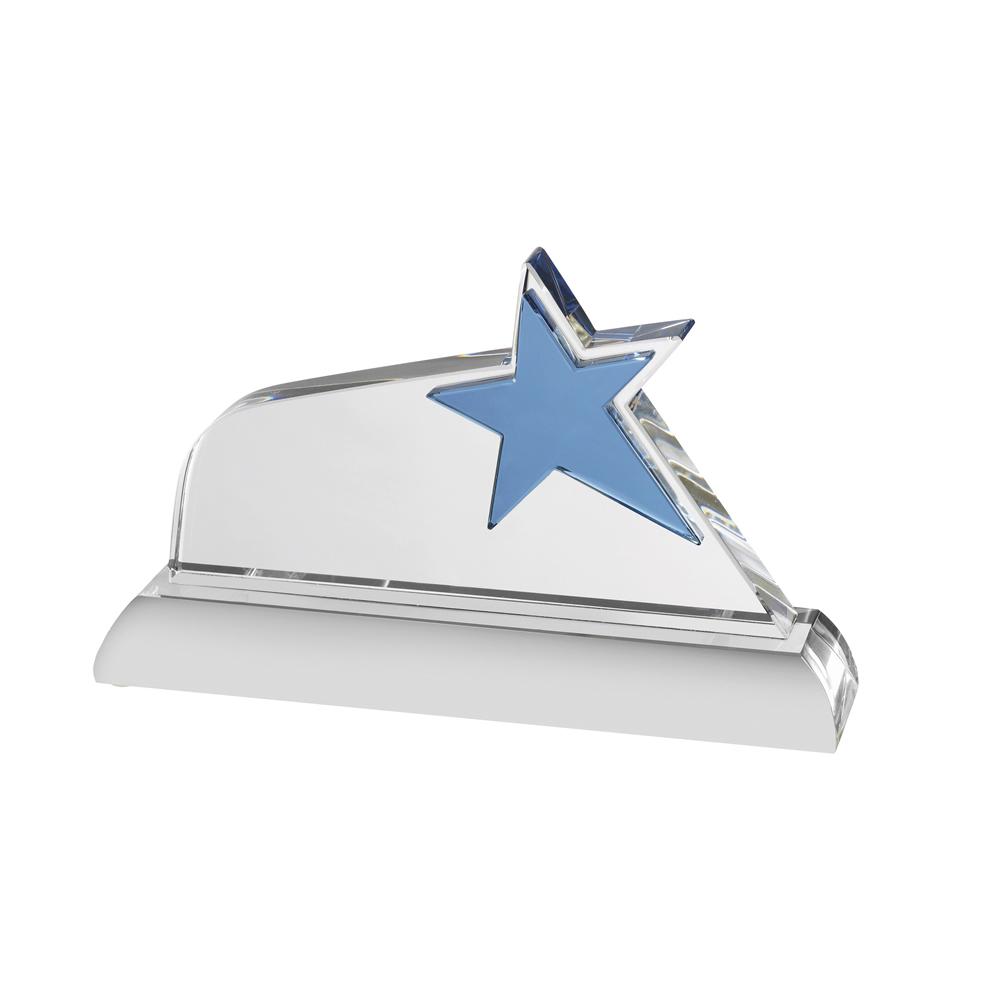 6 Inch Slanted Blue Star Oreland Award