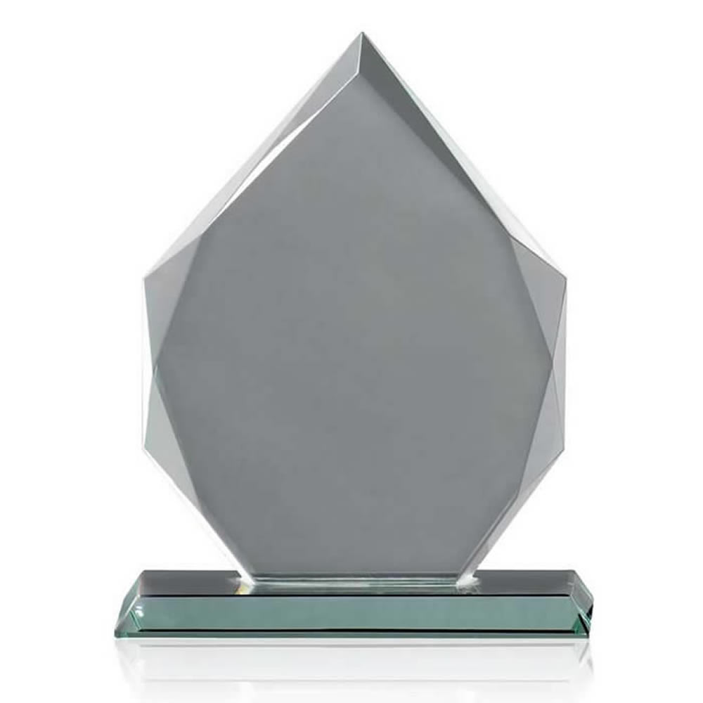 7 Inch Pointed Heptagon Optical Crystal Award