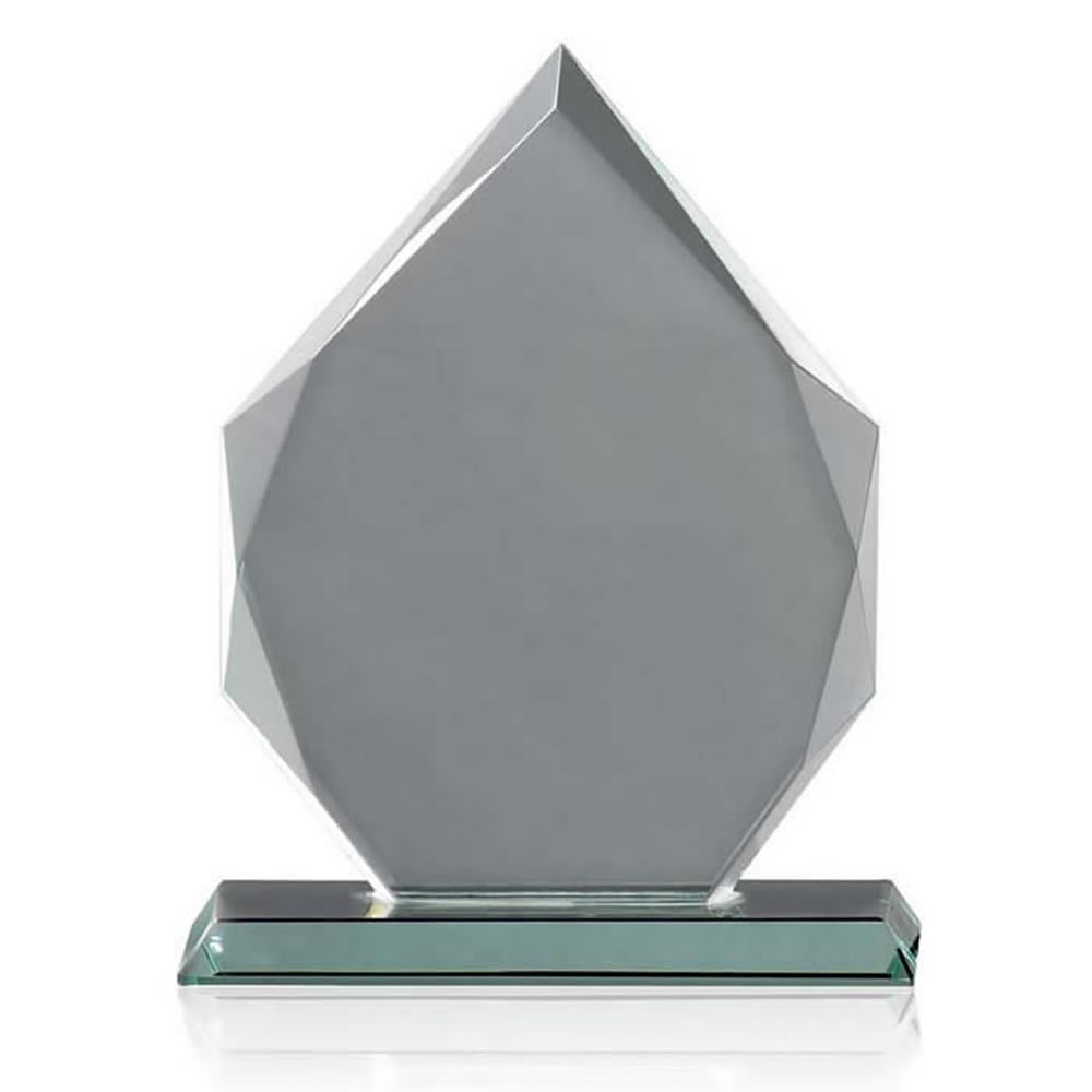9 Inch Pointed Heptagon Optical Crystal Award