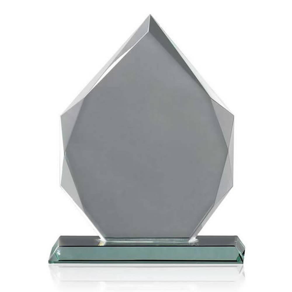 11 Inch Pointed Heptagon Optical Crystal Award