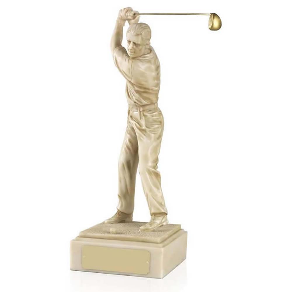 6 Inch Male Golf Ivory Figure Award