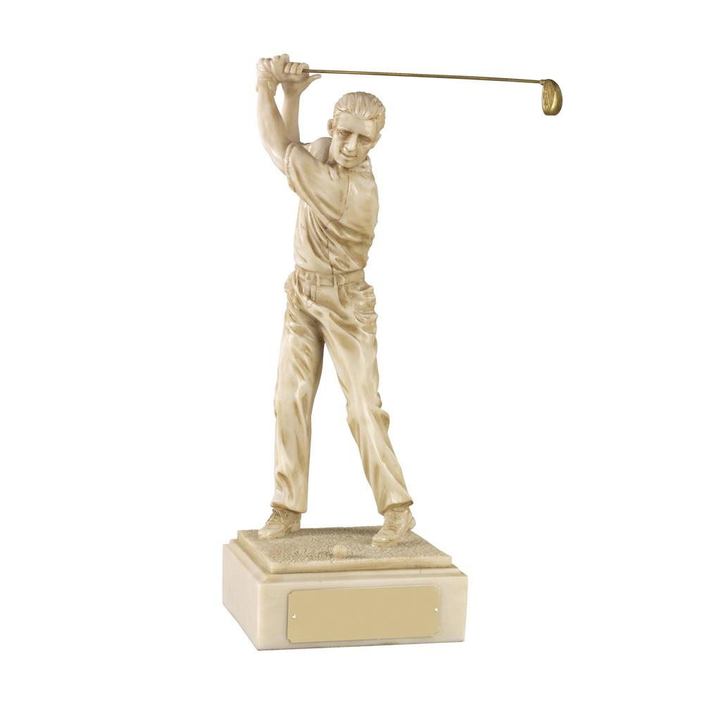 9 Inch Male Golf Golden Lion Figure Award