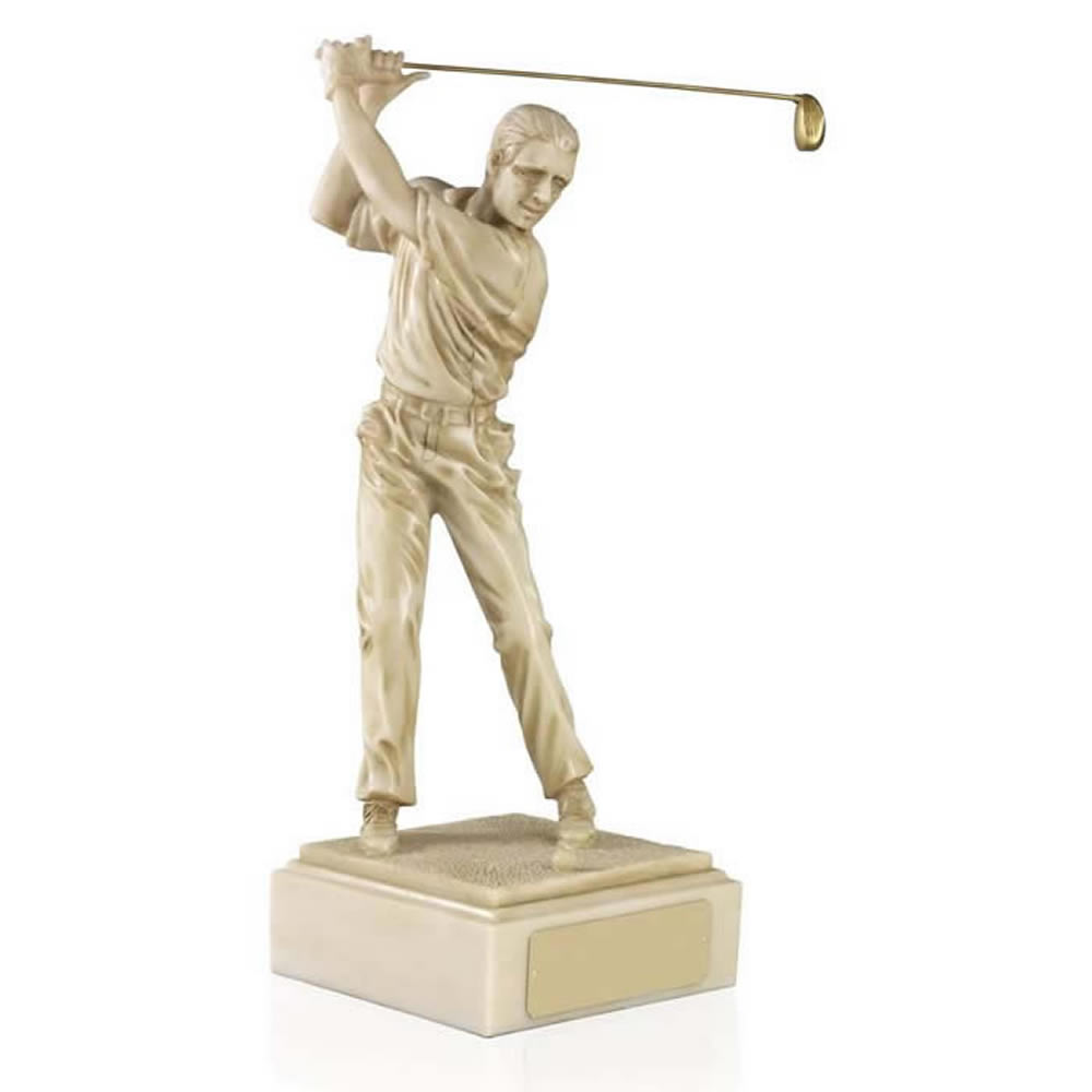 12 Inch Male Golf Golden Lion Figure Award