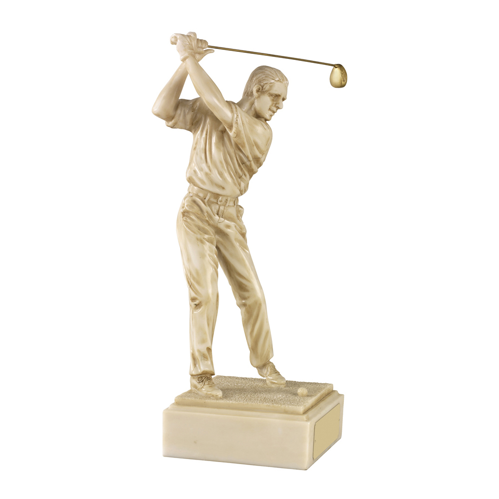 16 Inch Male Golf Golden Lion Figure Award