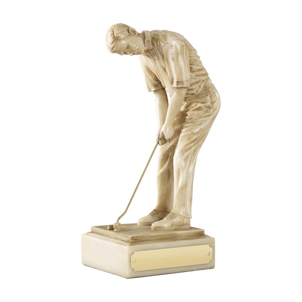 8 Inch The Champion Golf Golden Lion Figure Award