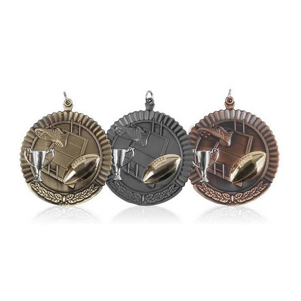 50mm Budget Rugby Jaunlet Medal