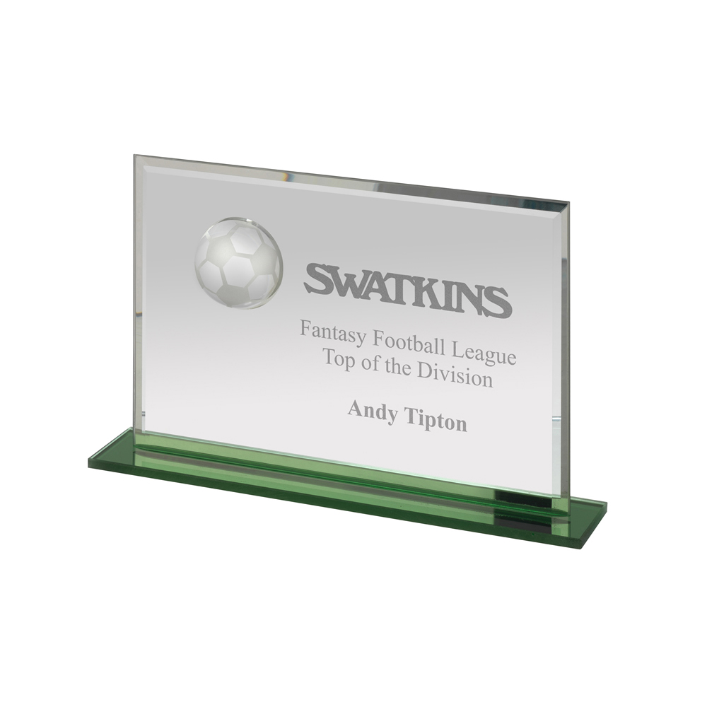6 x 9 Inch Landscape Football Optics Award