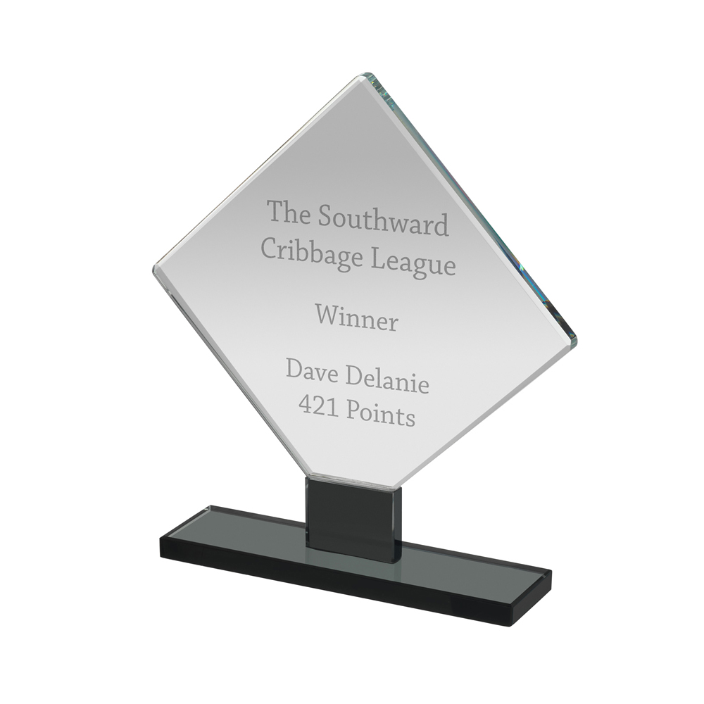 8 Inch Square Black & Clear Optics Award