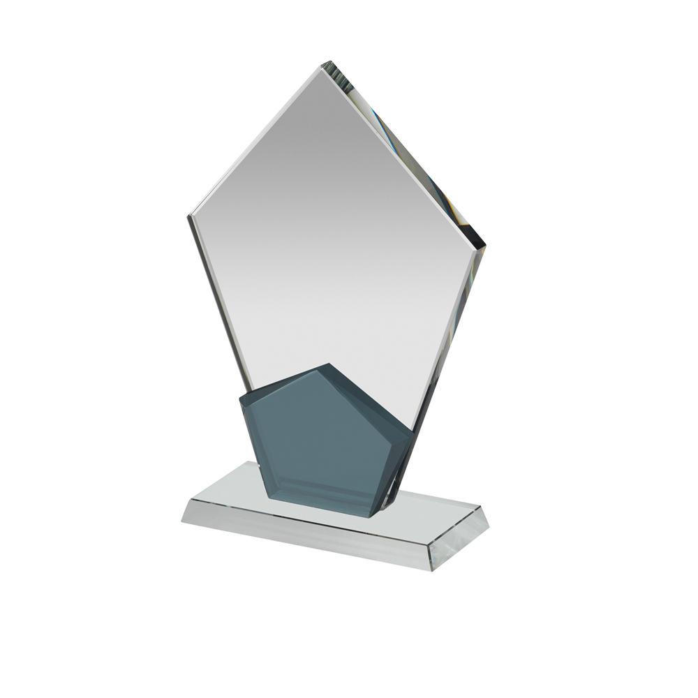 7 Inch Clear & Black Spear Point Optics Award