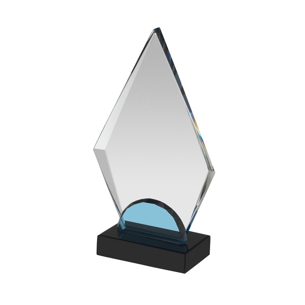 6 Inch Clear Blue & Black Sharp Top Optics Award