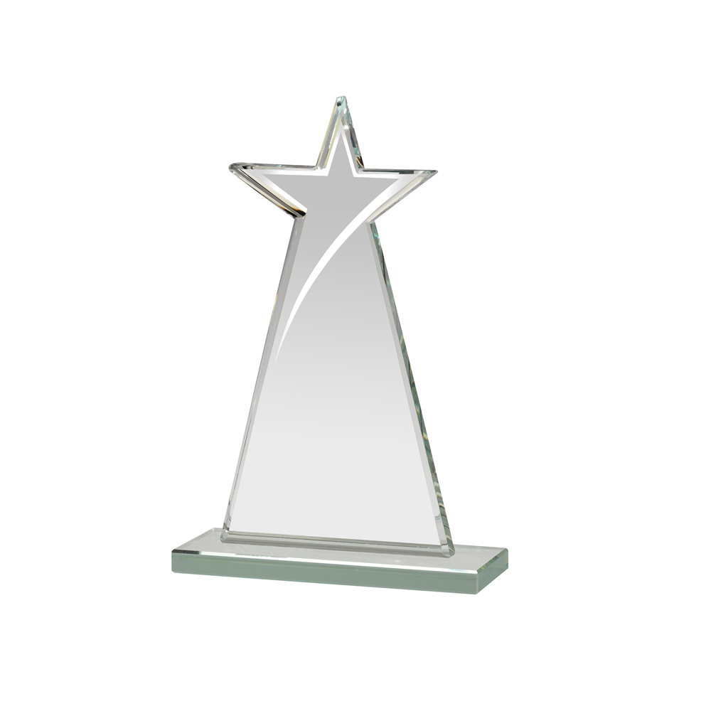 6 Inch Tall Mirrored Edge Star Mirror Award