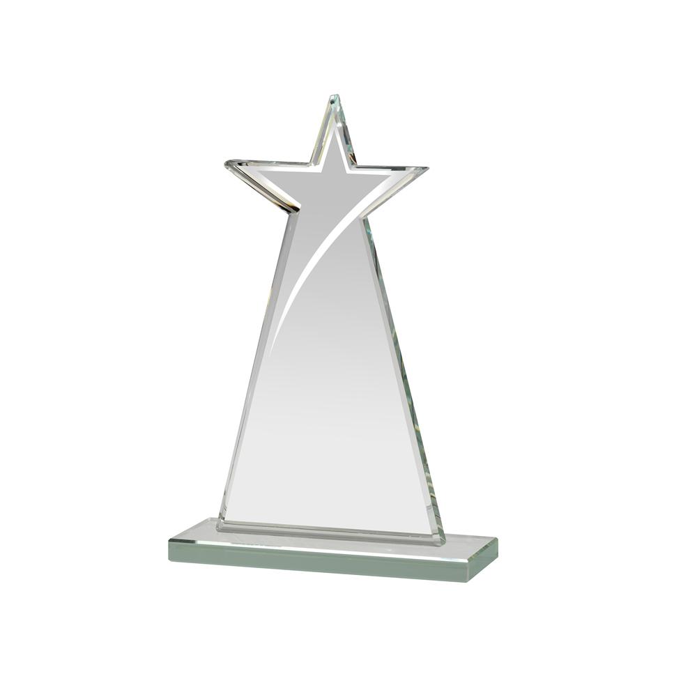 7 Inch Tall Mirrored Edge Star Mirror Award