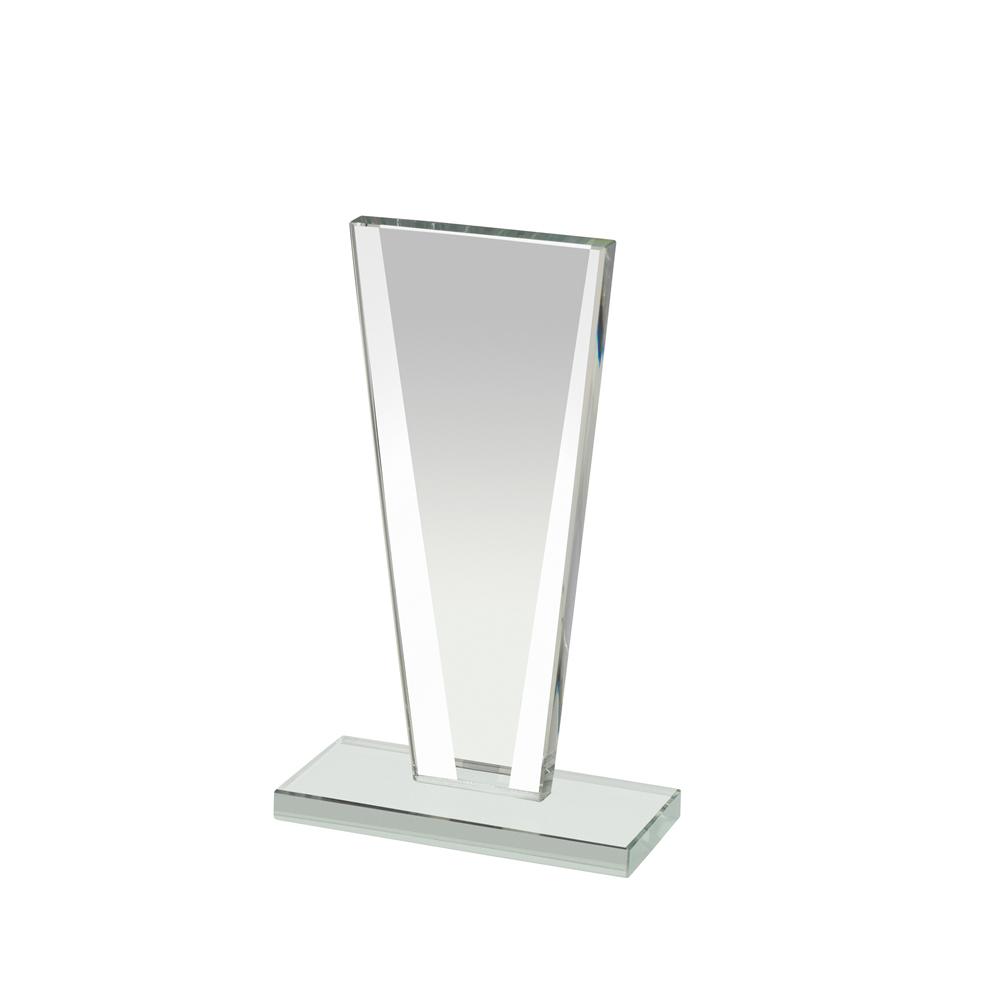 7 Inch Tall Mirrored Edge Mirror Award