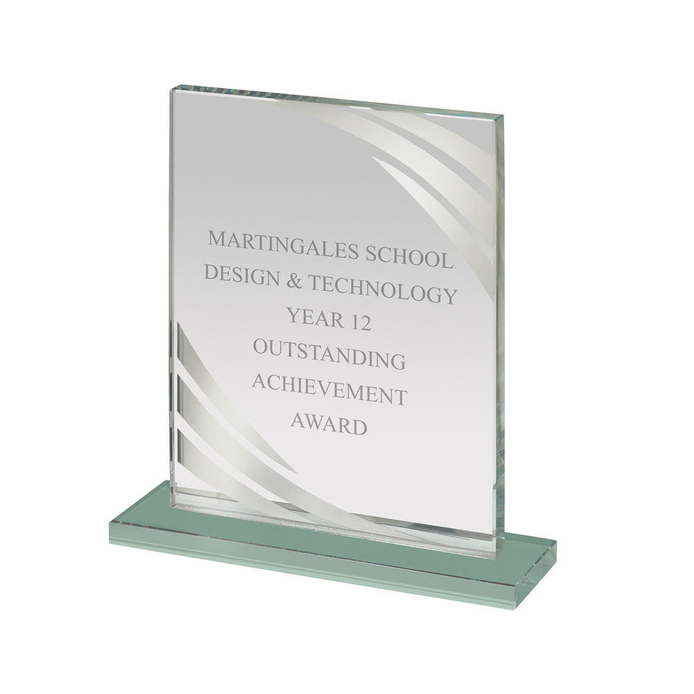 7 Inch Mirrored Edge Portrait Mirror Award