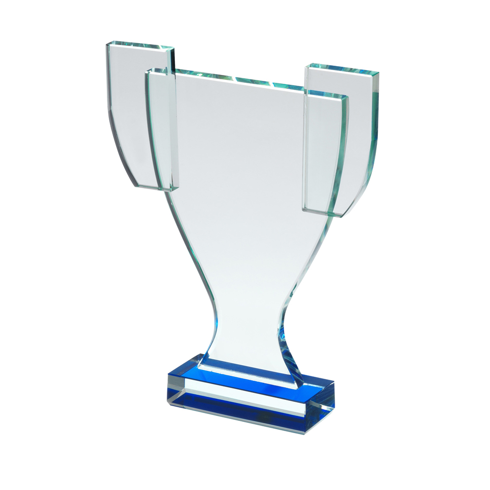 8 Inch Clear Trophy Shaped Optical Crystal Award