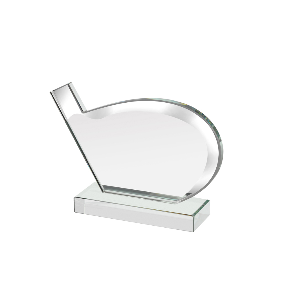 5 x 6 Inch Mirrored Edge Golf Club Golf Reflection Award
