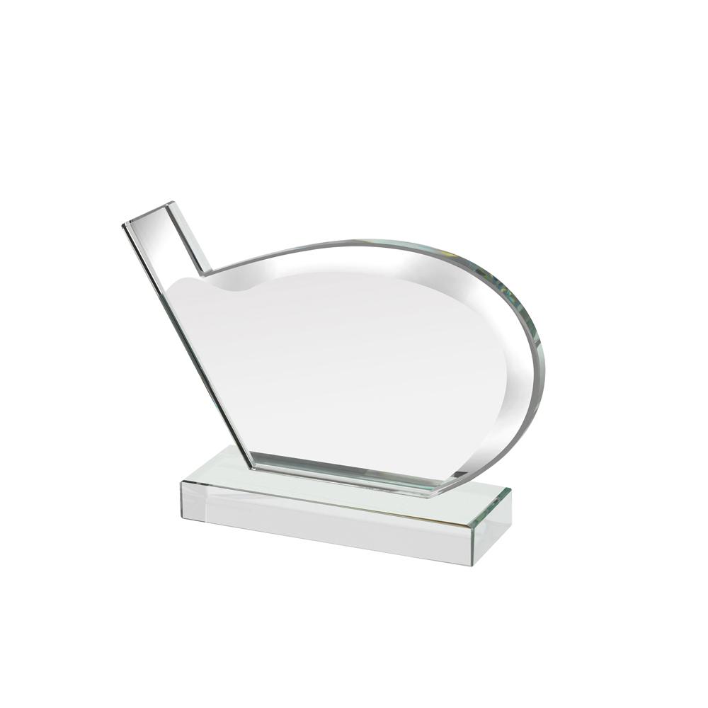 5 x 7 Inch Mirrored Edge Golf Club Golf Reflection Award