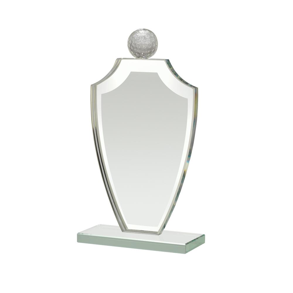 8 Inch Golf Atop Shield Golf Reflection Award
