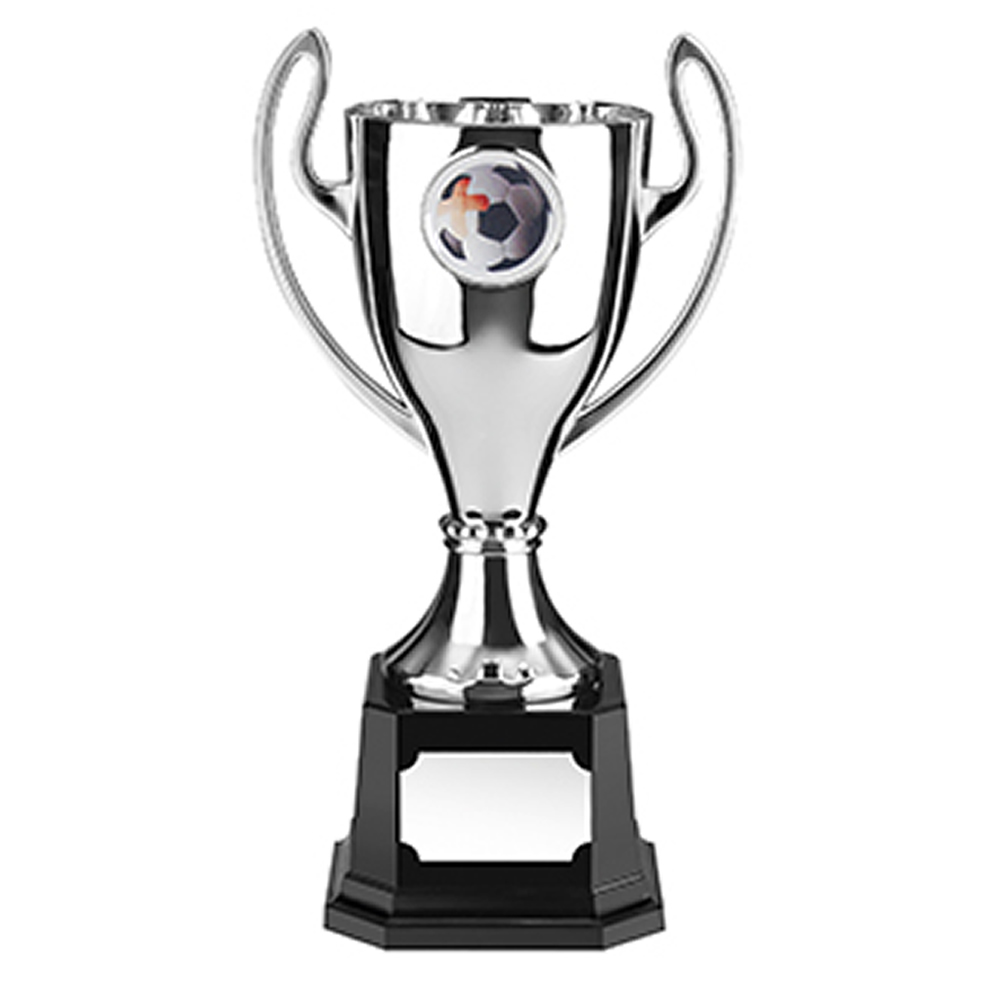 8 Inch Silver Finish Stadium Trophy Cup