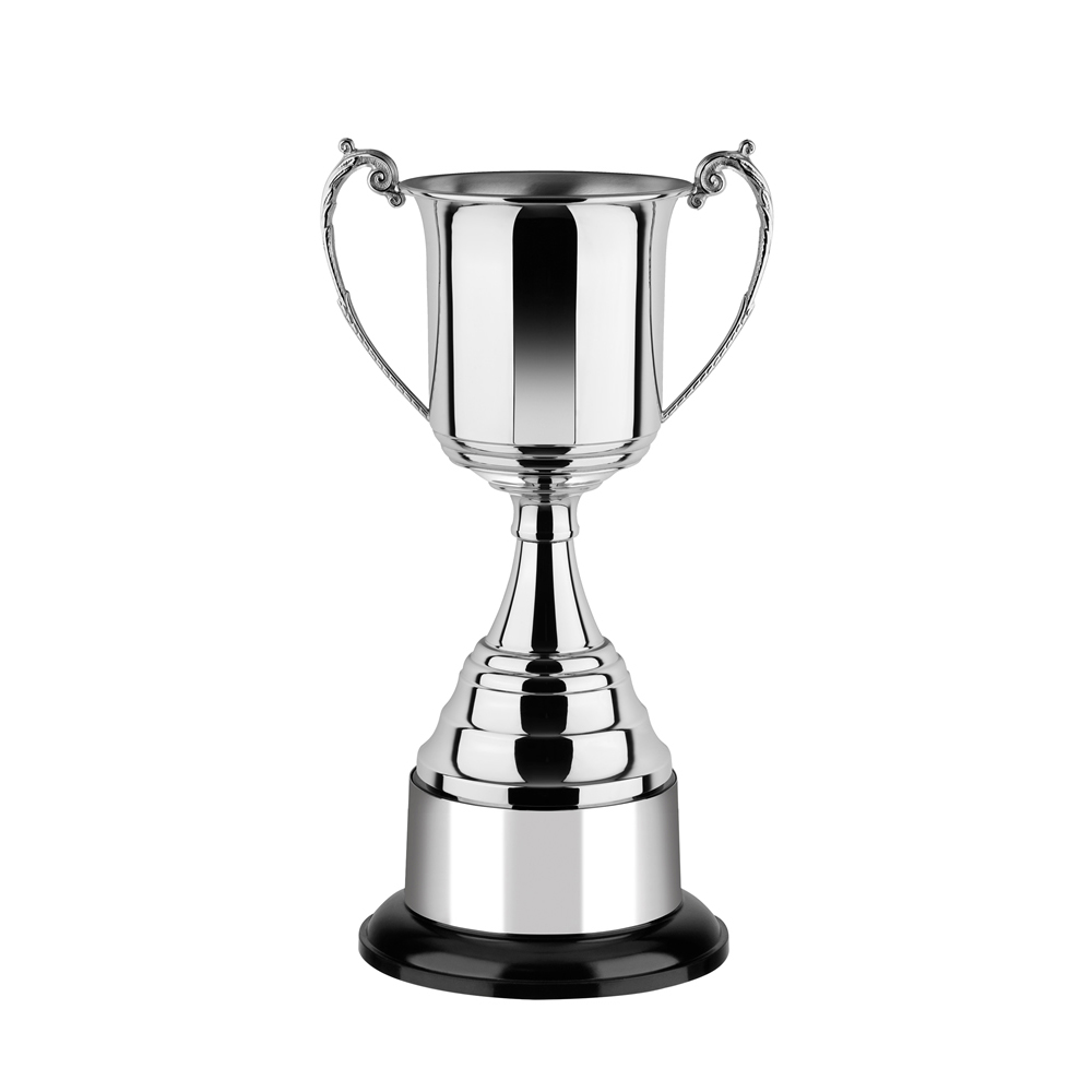 8 Inch Square Bowl & Round Base Revolution Trophy Cup