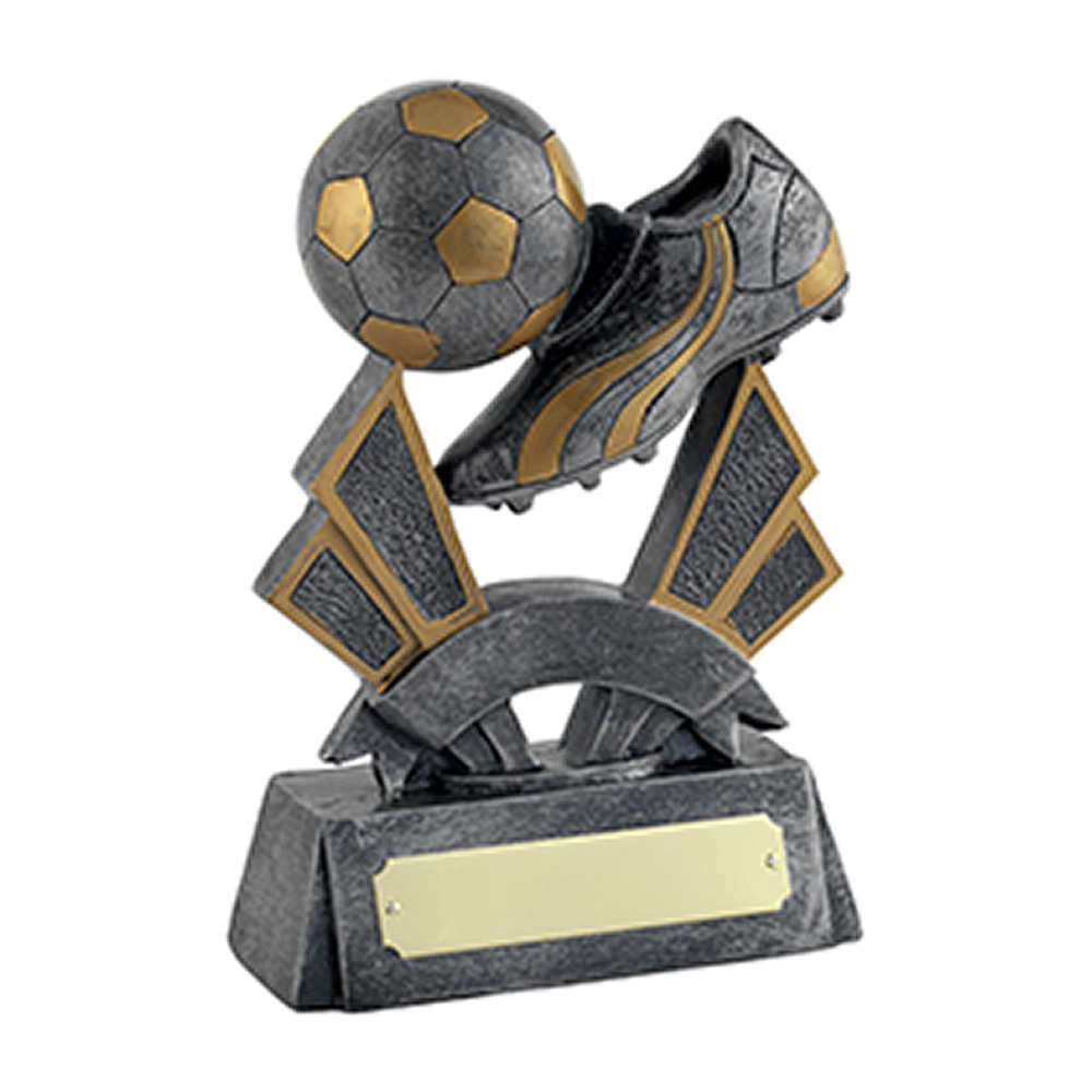 5 Inch Sateen Finish Ball And Boot Football Gilt Award