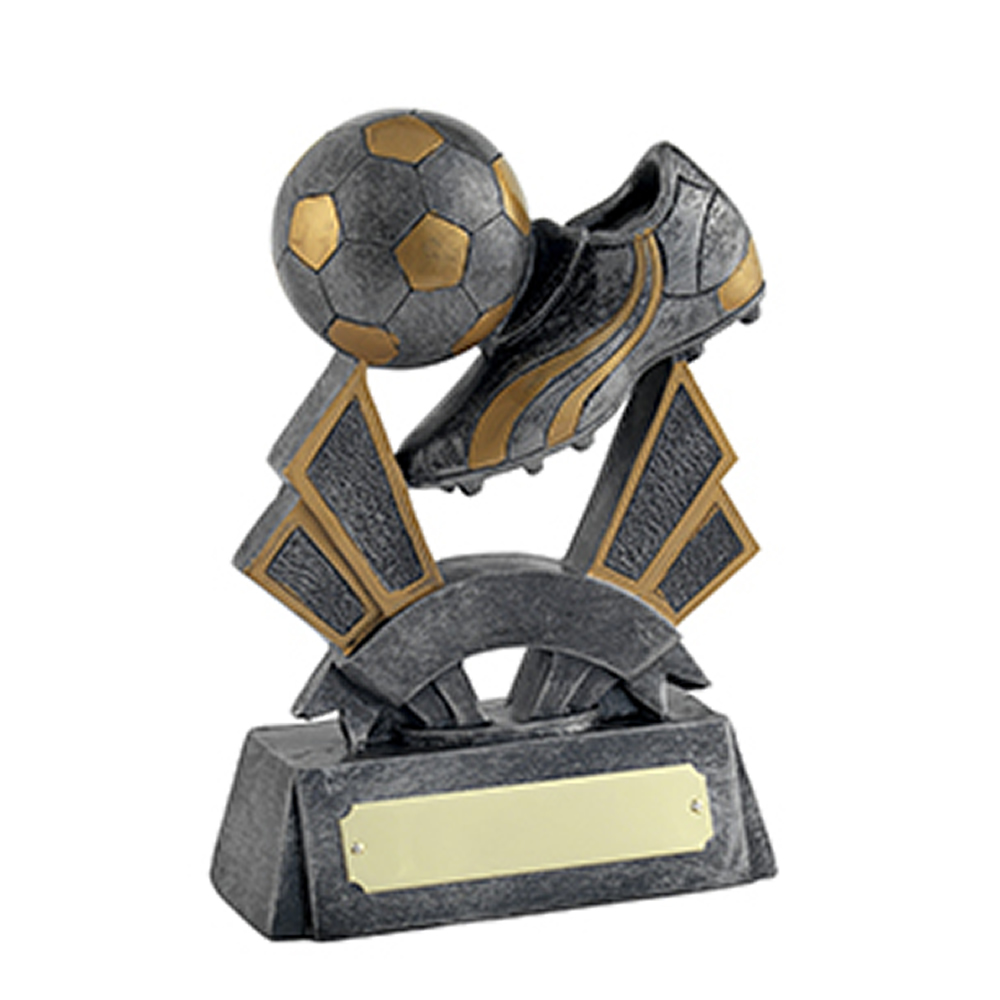 7 Inch Sateen Finish Ball And Boot Football Gilt Award