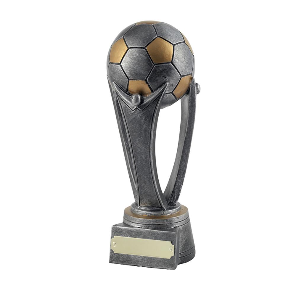7 Inch Sateen Finish Football Gilt Award