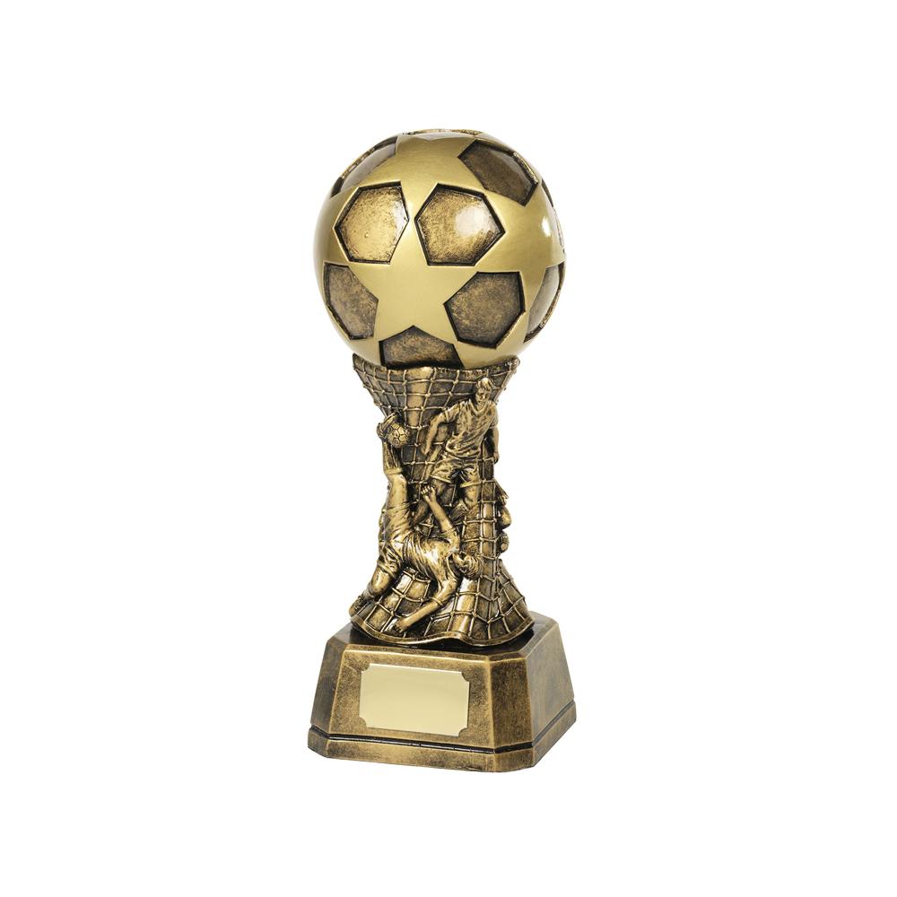 9 Inch Ball & Player Football Resin Sculpture