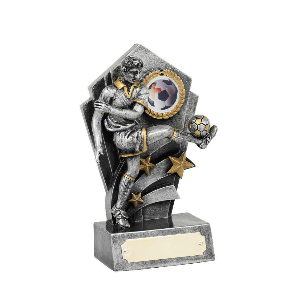 6 Inch Kick Football Resin Award