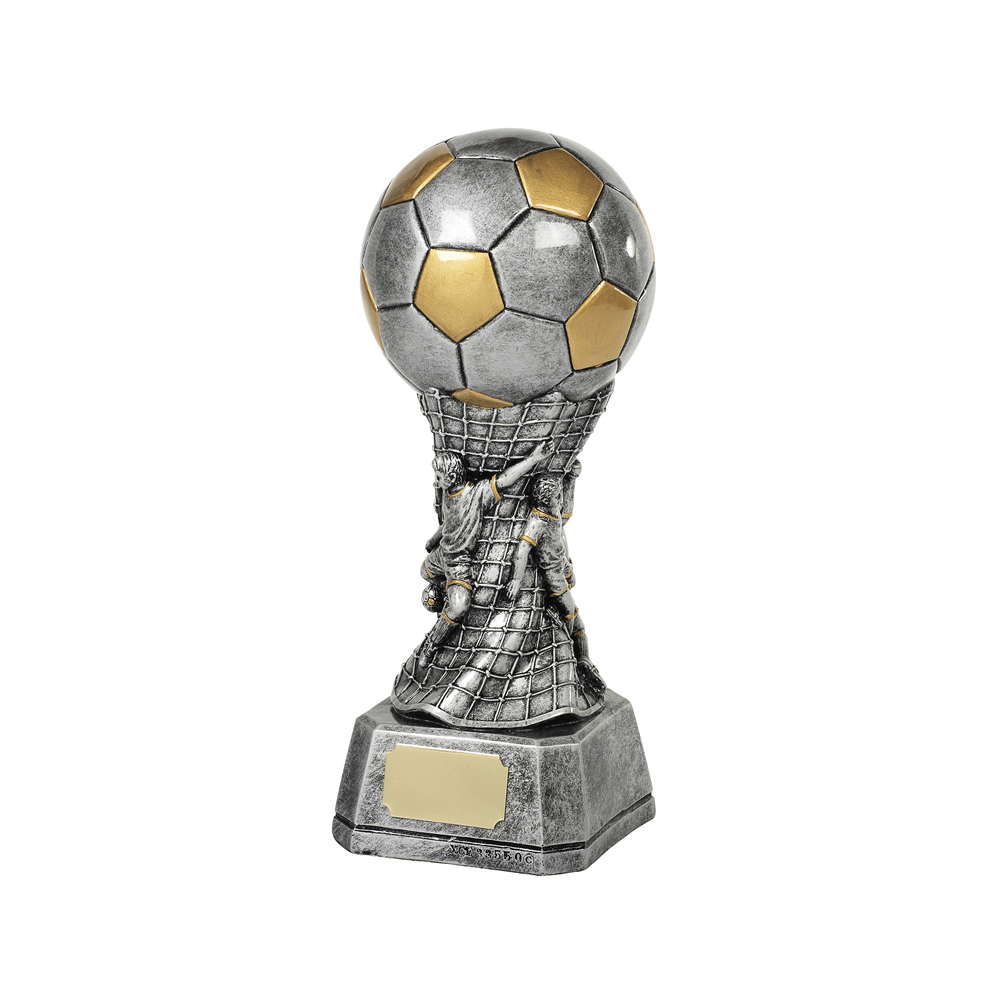 9 Inch Ball Net & Players Football Resin Award