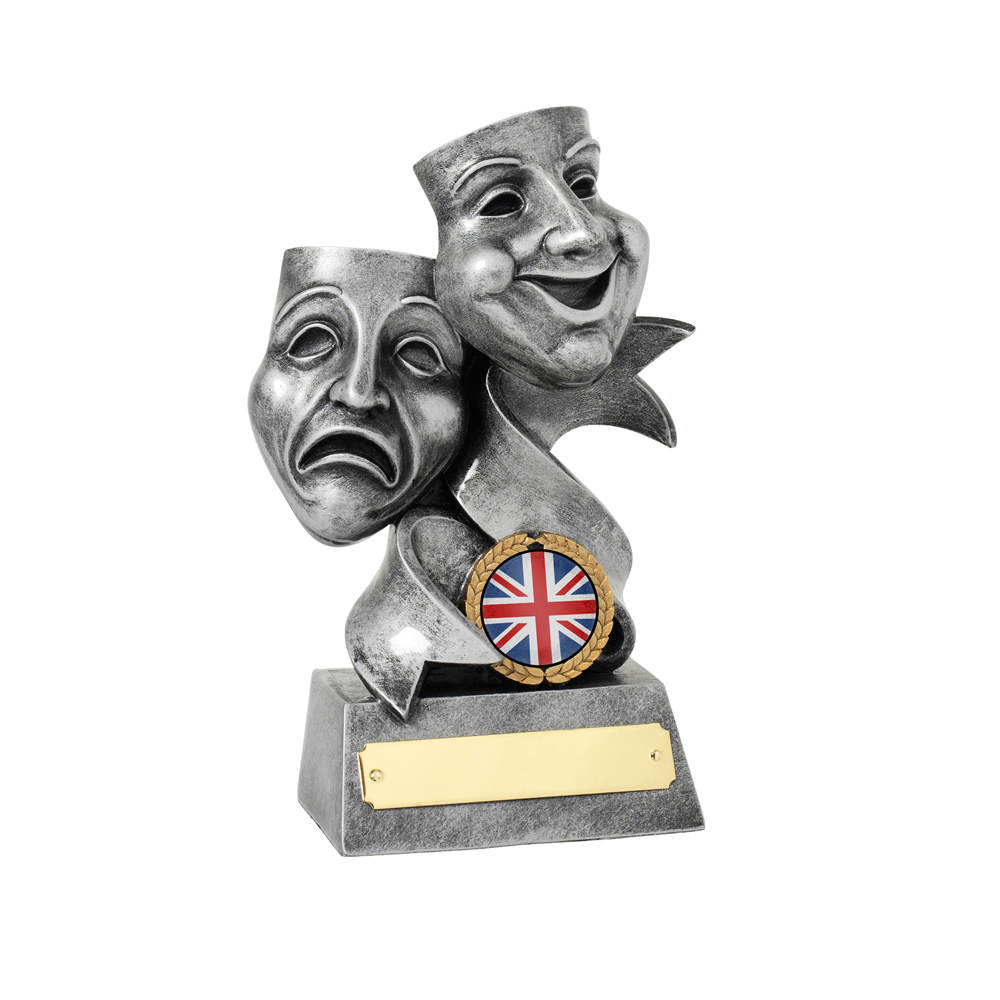 7 Inch Masks Drama Resin Award