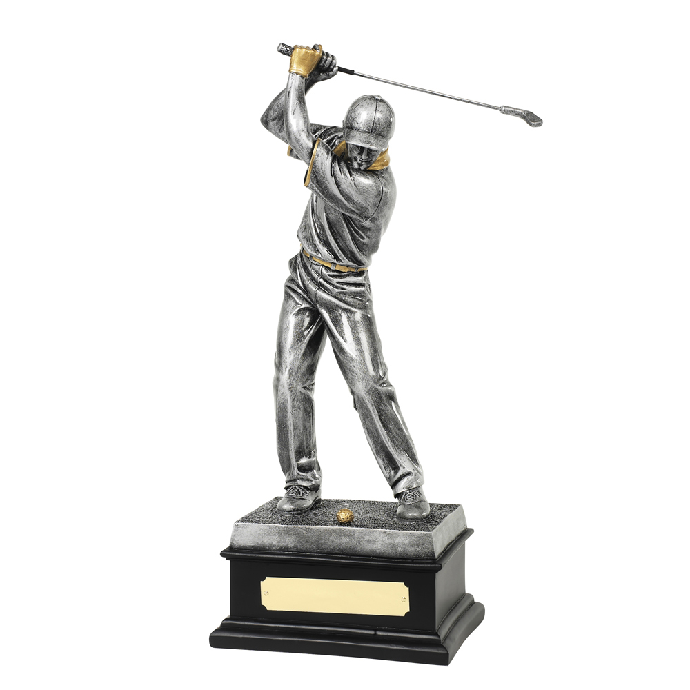 14 Inch Male Golfer Golf Resin Figure Award